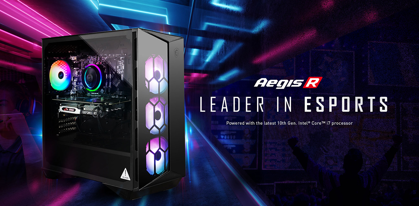 MSI Aegis R - Leader In Esports.