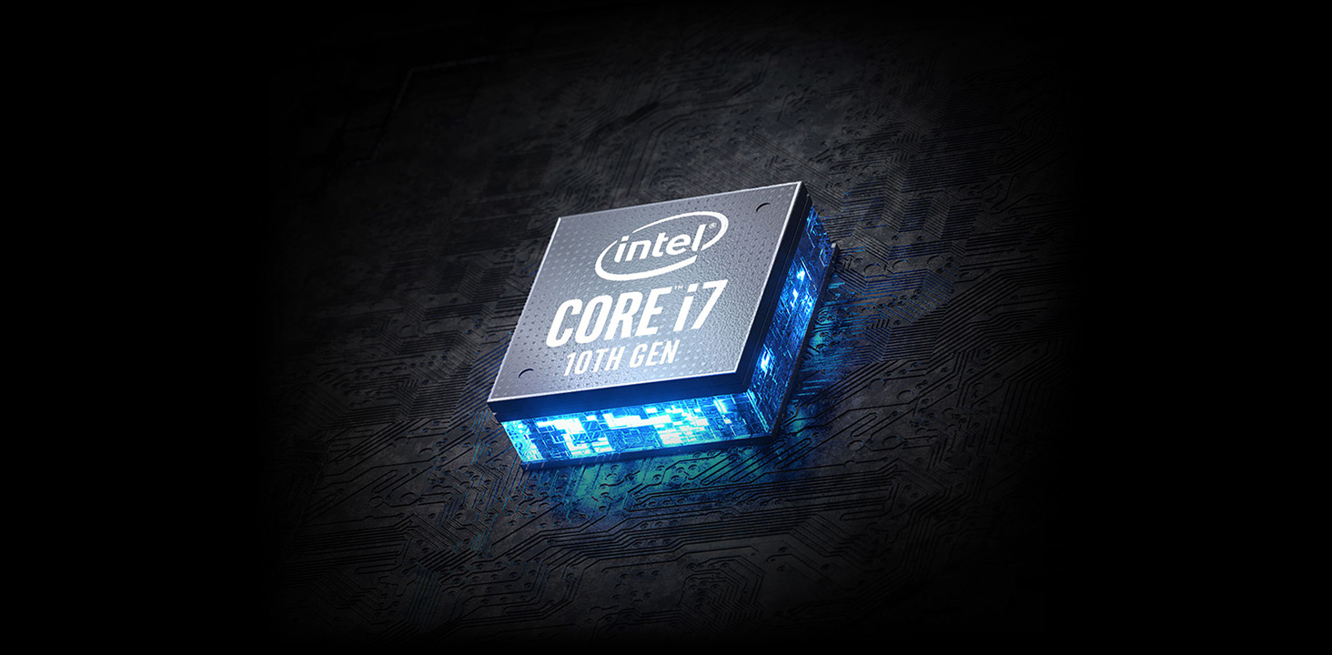 Intel 10th Gen Core i7 logo.