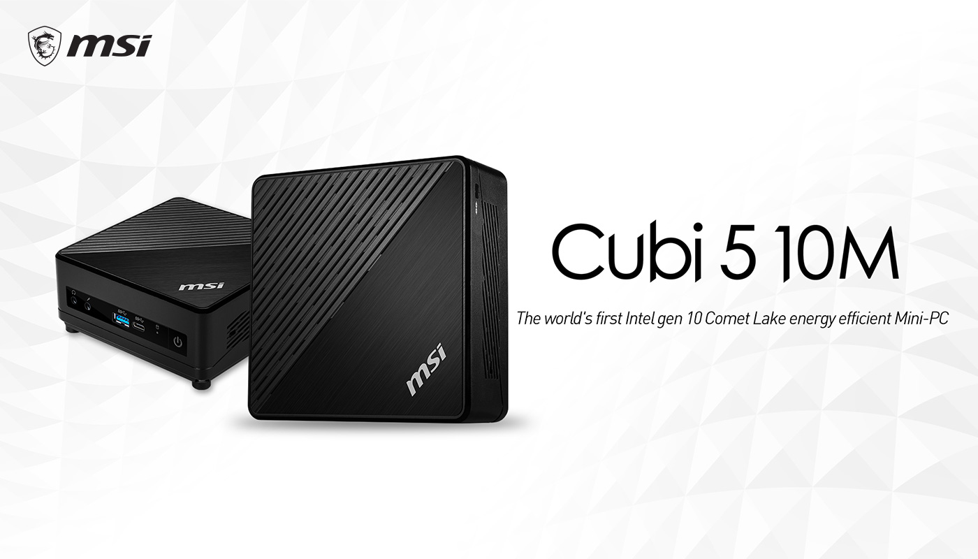 MSI Cubi 5 10 M - The world's furst Intel Gen 10 Comet Lake energy efficient Mini-PC.