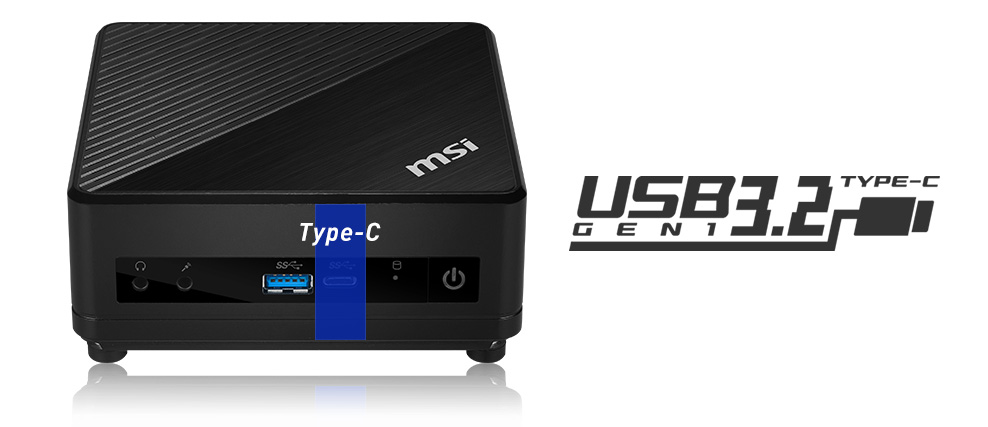Cubi 5 10M focused on usb 3.2 Gen 1 Type-c input.